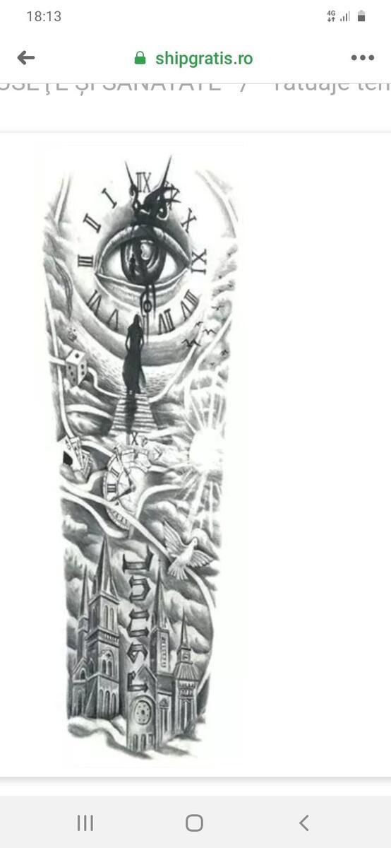 Tatuaj temporar DC4578 (Fotografie pt. recenzie)
