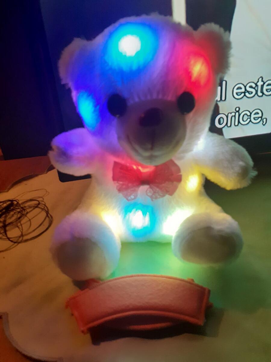 Ursuleț luminos de pluș (Fotografie pt. recenzie)