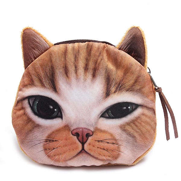 Malá peněženka v podobě kočičí hlavy