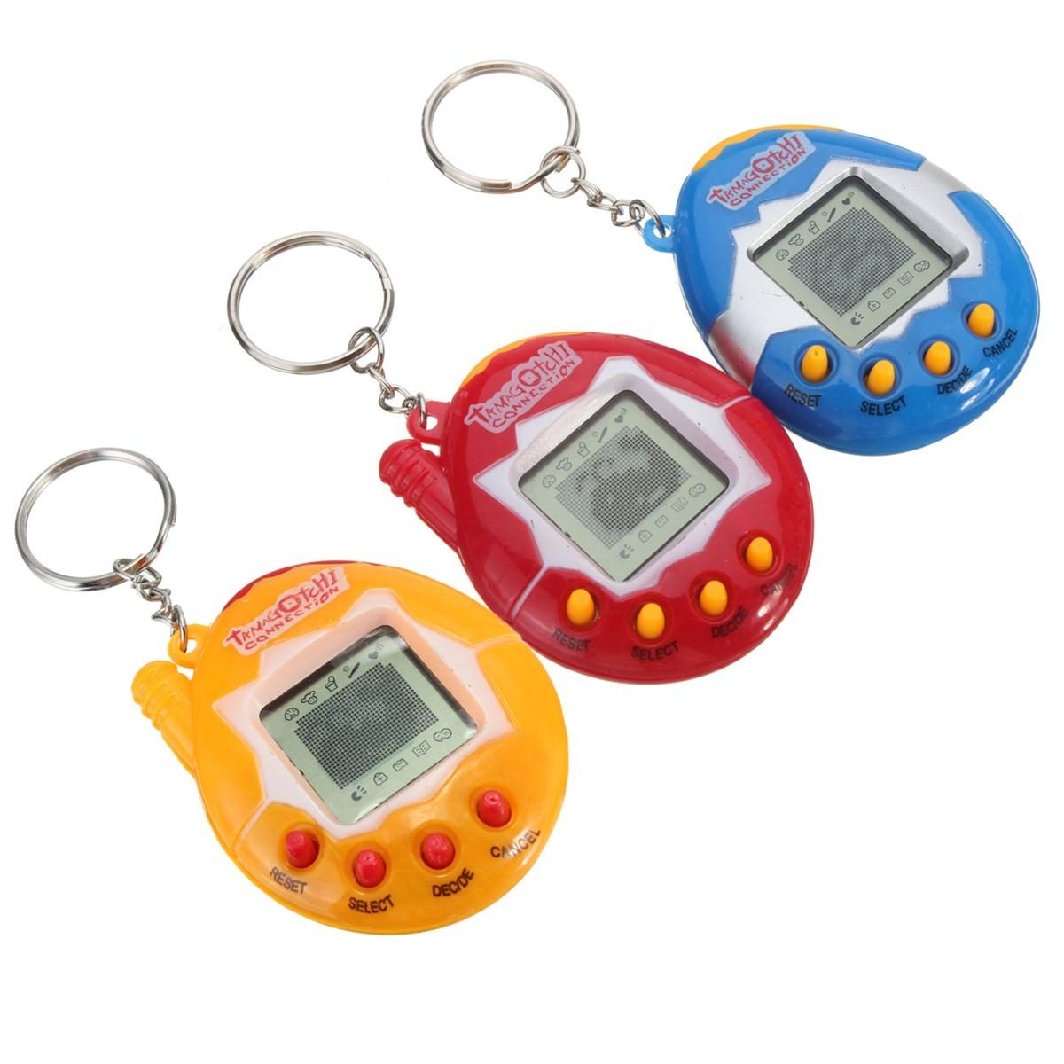 Oblíbená retro hračka pro děti - Tamagotchi - modrá