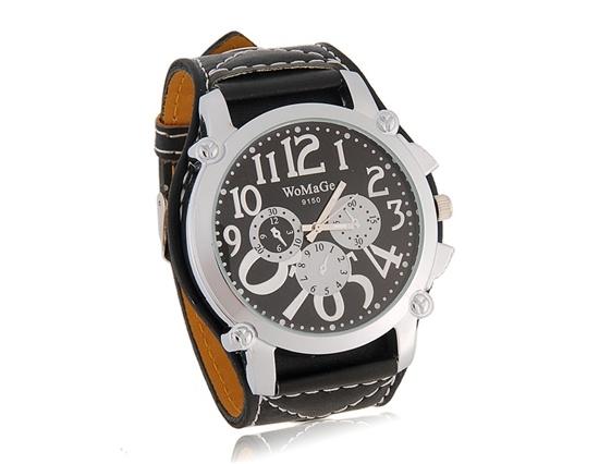 Sport-elegante Uhren WOMAGE - schwarz