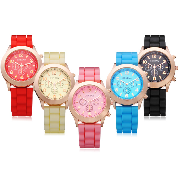 Armbanduhr Geneva - gelb