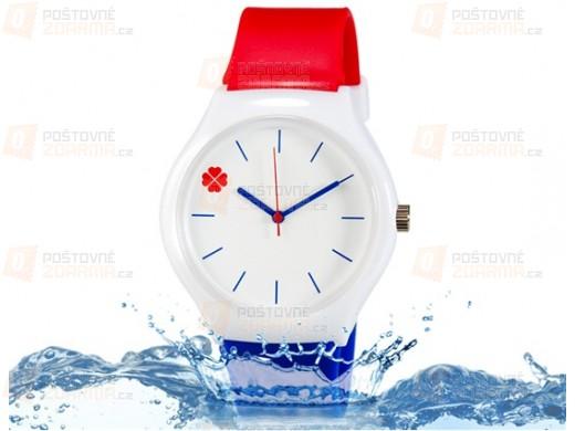 Silikon Armbanduhr mit Kleeblatt