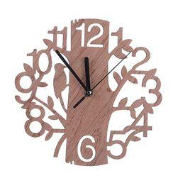 Zegar ścienny - drzewo i dzięcioł