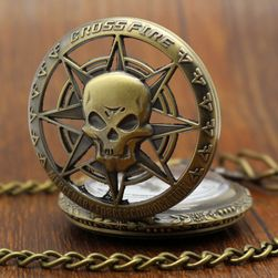 Steampunk džepni sat sa lobanjom