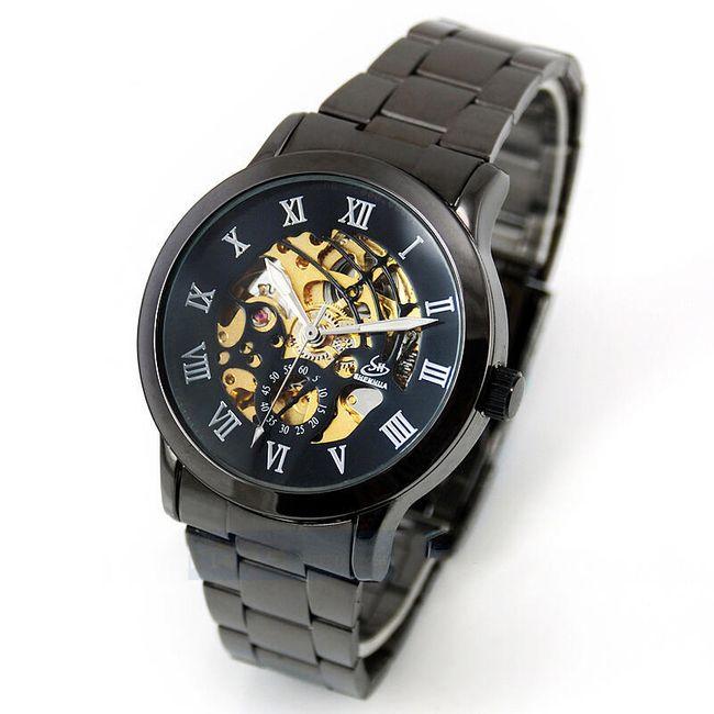 Samonatahovací pánské hodinky Gunmetal 1