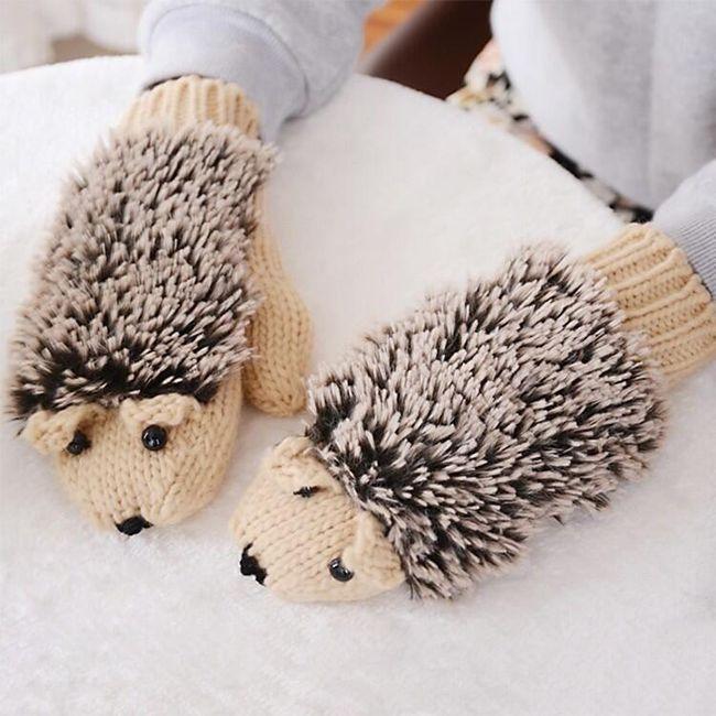 Mănuși de damă sub formă de arici 1