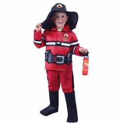 Gyermek tűzoltó jelmez cseh nyomtatással (L) RZ_207400