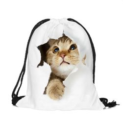 Worek na plecy z motywem kotów - kilka wariantów