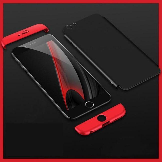 2v1 Zadní a přední kryt s 360° ochranou pro iPhone 6/6S 1
