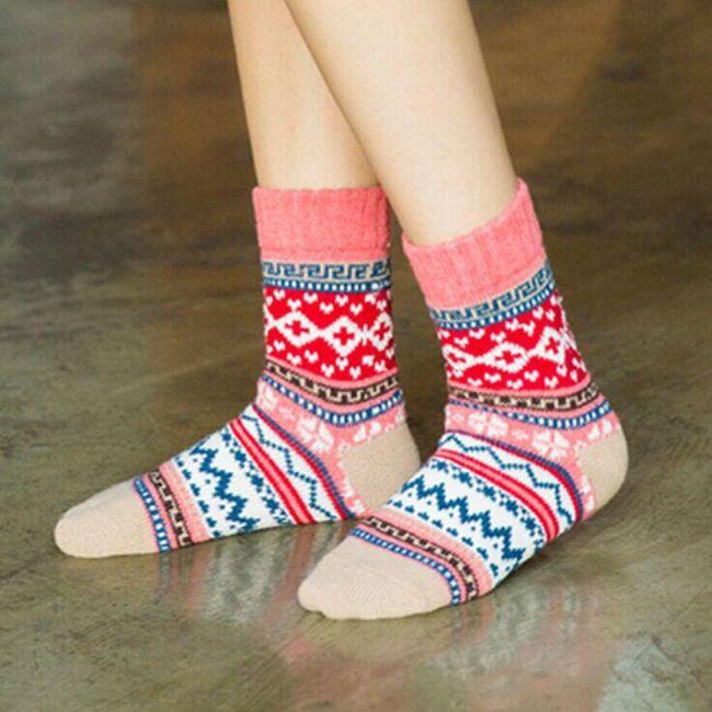 Ženske zimske čarape - 5 varijanti 1