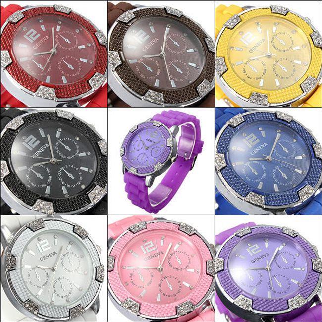 Ceas din silicon în 8 culori - unisex 1