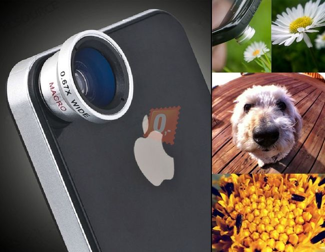 2 v 1 čočka pro iPhone4 1