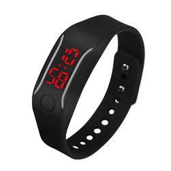 Цифровые силиконовые часы для любителей спорта