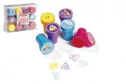 Pečiatky 12ks samonamáčacie plast jednorožec v krabičke 12x9cm 10ks v boxe RM_88800010