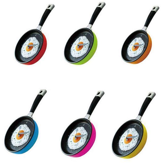 Zegar ścienny do kuchni w postaci patelni - 6 kolorów 1