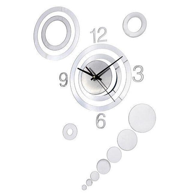 Designowy srebrny zegar 1