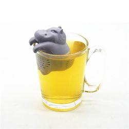Silikonové sítko na čaj - Hrošík