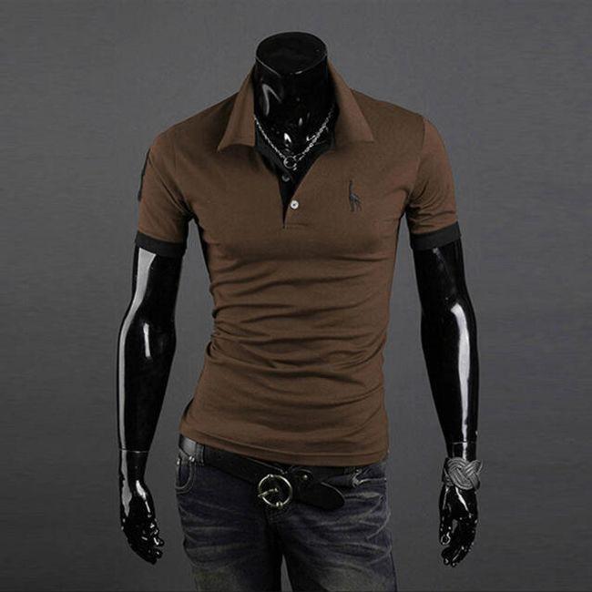 Férfi elegáns póló gallérral