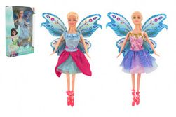 Bábika s krídlami kĺbová plast 30cm 2 druhy v krabici 19 x 31 x 6cm RM_00850124