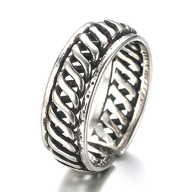Dámský spirálový vintage prsten 1
