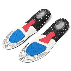 Wkładki do butów ze silikonową podkładką pod piętąy