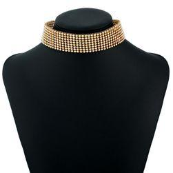 Choker náhrdelník s krystaly