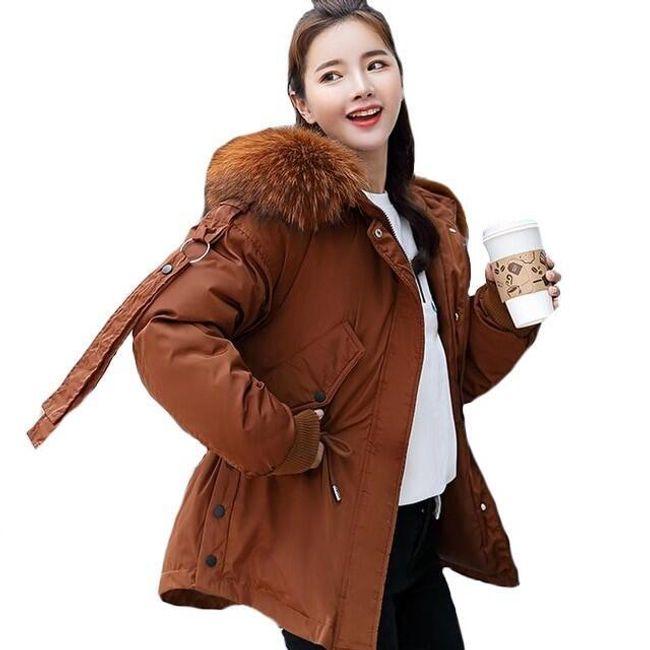 Dámská zimní bunda Loreen s umělým kožíškem 1
