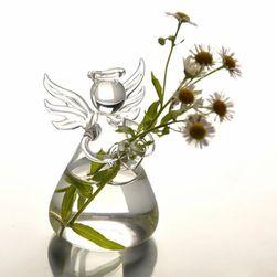 Wazon szklany w kształcie anioła