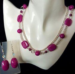 Sada šperků purpurová