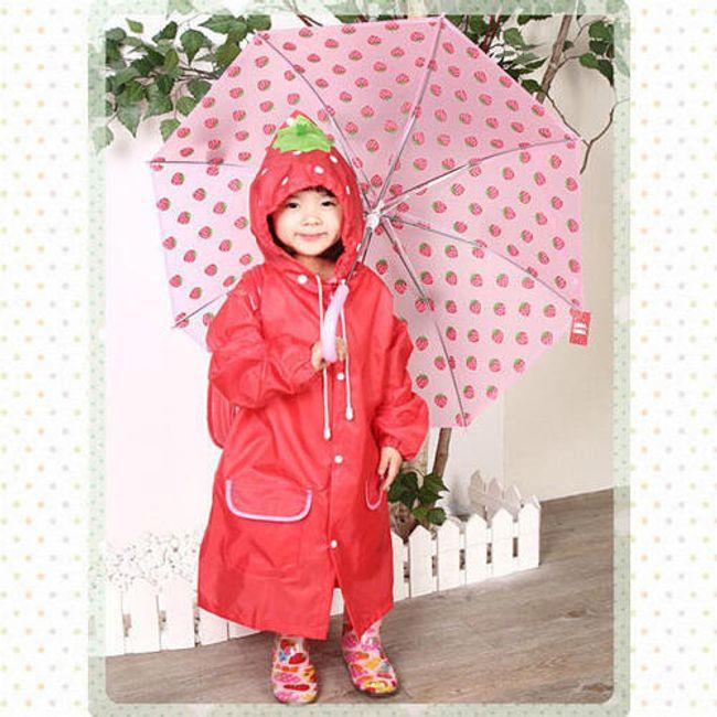 Pláštěnka pro děti s motivem jahody 1