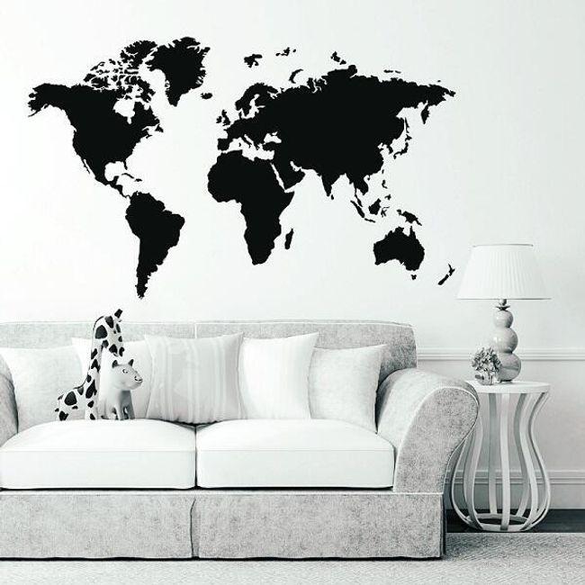 Fal dekoráció - vak világtérkép 1