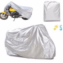 Motorkerékpárok védő ponyva ezüstből