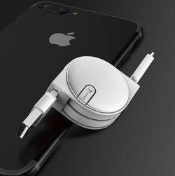 2in1 behúzható Micro / USB-C töltőkábel - 5 szín