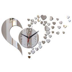 Desingnowy zegar ścienny - serduszka