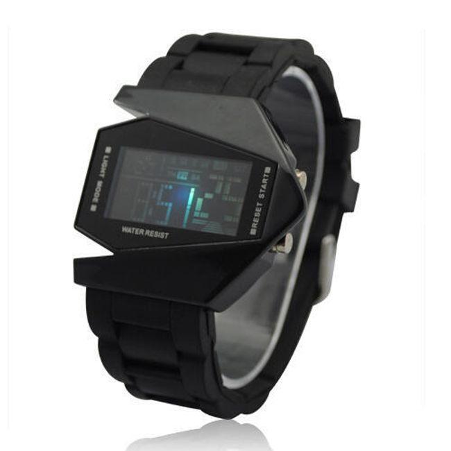 Futuristické digitální LED hodinky - 6 barev 1