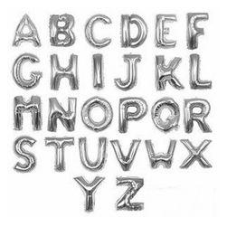 Балони във формата на букви - сребърен цвят
