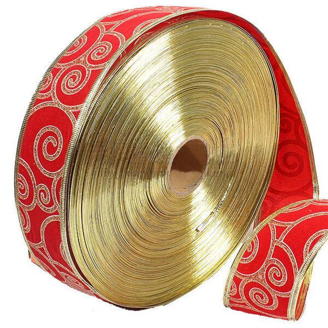 Ozdobná textilní stuha - červená 1