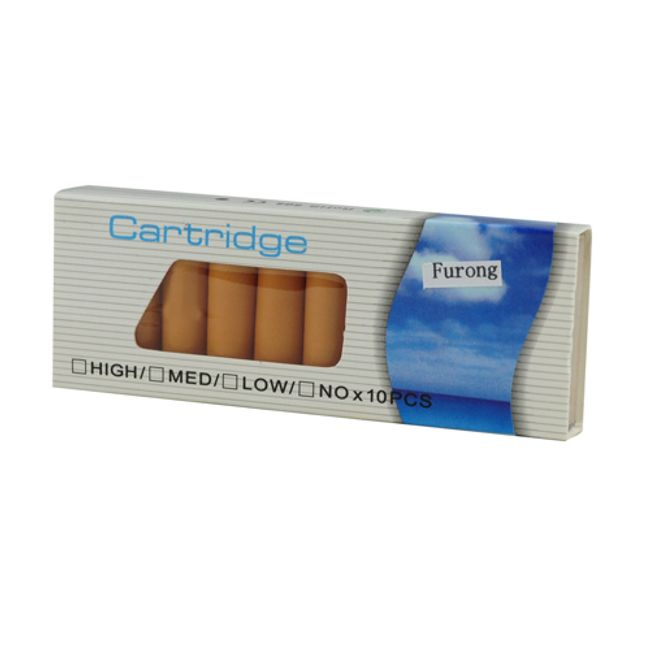 Balení 10 cartridgí do e-cigarety - Furong, vysoký obsah nikotinu 1