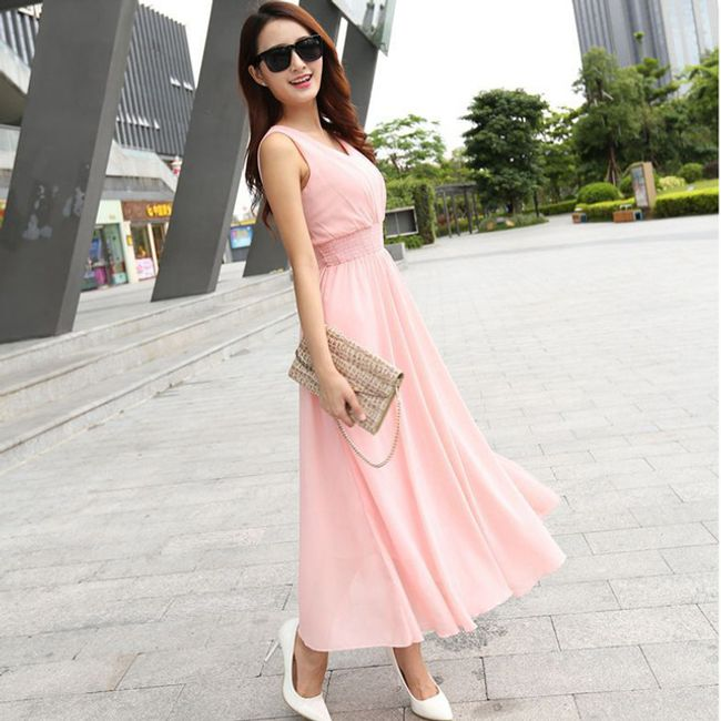 Bohémské šaty pro dámy - Růžová-velikost č. 2 1