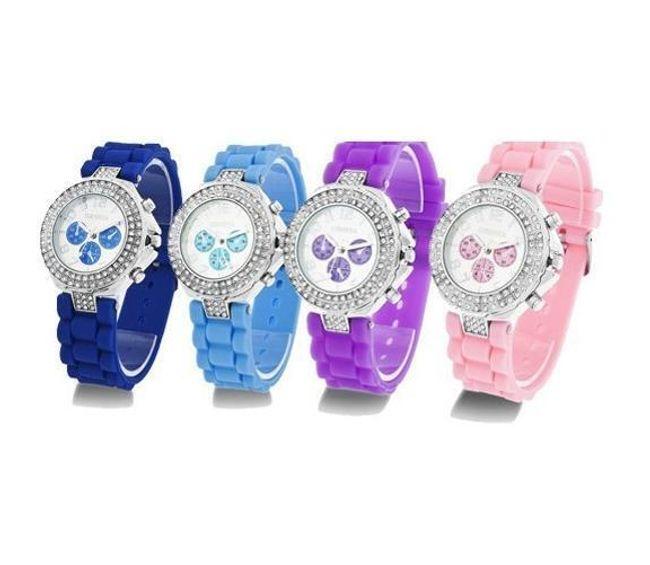 Silikonowy zegarek GENEVA - 12 kolorów 1