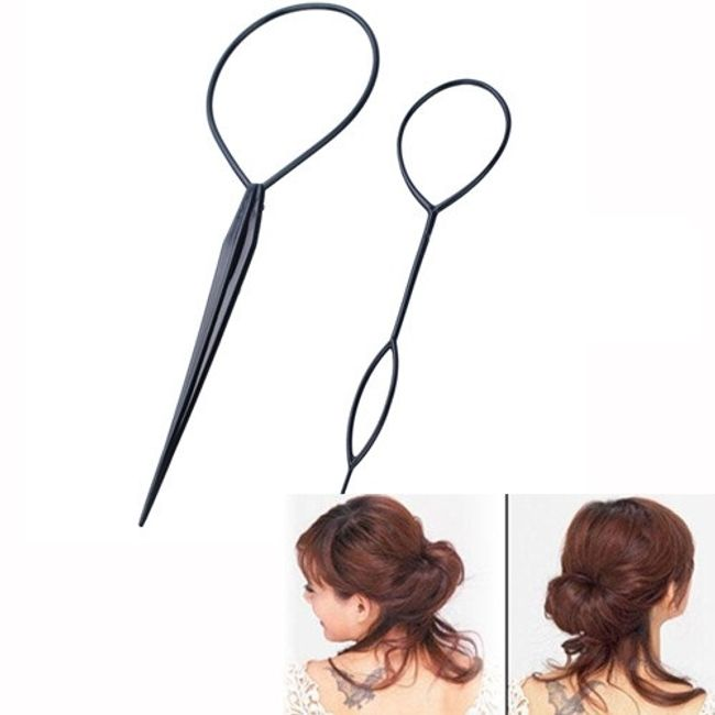 Большая шпилька с отверстием для волос - 2 шт. 1