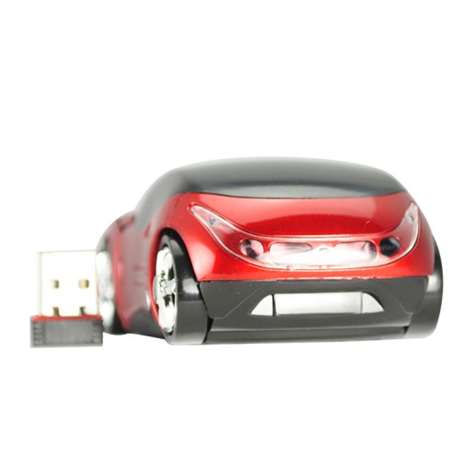 Bezprzewodowa mysz optyczna w kształcie Ferrari - czerwona 1