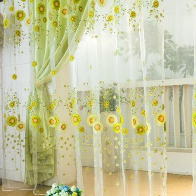 Zavesa sa cvetovima 1 x 2 m 1