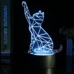 3D-s asztali lámpa macska alakú