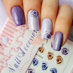 Naklejki na paznokcie z kolorowymi różyczkami