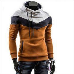 Şık çizgili erkek sweatshirt