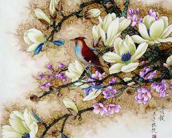 Slikanje po brojevima - ptica na drvetu