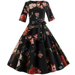 Kwiecista sukienka vintage - 4 warianty