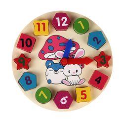 Drewniany dziecięcy zegar B04953
